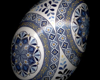 Made To Order: Cerulean Blues Pysanka Pysanky  EBSQ Juried Plus