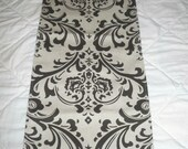 Free Domestic Shipping-Table Runner -Wedding Accessories/Formal Events/Formal Dining - Table Runner - Traditions Black on Linen Like Damask