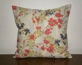 SALE...Free Domestic Shipping... Decorative Pillow Covers - 18 inch Asian Influence Floral Blossom