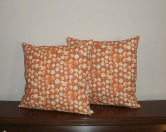 SALE...Free Domestic Shipping. Decorative Pillow Covers - Set of Two -18 inch Martini in Rust
