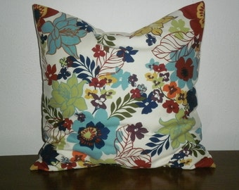 SALE...Free Domestic Shipping.. Decorative Pillow Covers - 18 inch Flower Garden