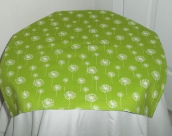 FREE DOMESTIC SHIPPING Small White Dandelion on Chartreuse Table Square/Formal/Wedding Accessory