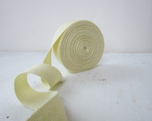 Yellow Twill Tape Ribbon, 3/4 inch wide, Chevron Cotton Twill Tape, 5 yards