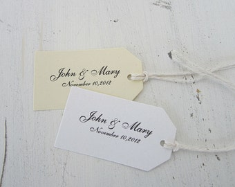 Wedding Favor Tags, Bridal Shower Favor Tags, Graduation Favor Tags, Personalized Thank You Tags, Bride, Groom Favor Tags