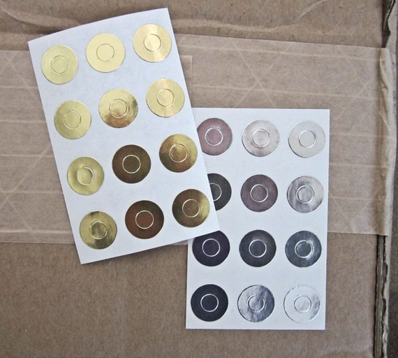 Silver, Gold  Hole Reinforcements, Gold, Silver Foil Stickers, Page protectors