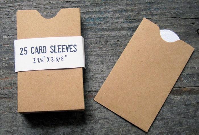 25 Kraft Paper Card Sleeve Mini Envelope by GreenRidgeDesigns