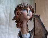 Les Miserables Cosette Paper Clay Sculpture