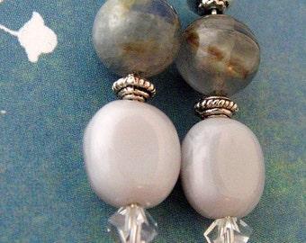 Kyanite Silver Crystal Earrings