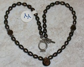 SaLe-SaLe  Chocolate Heaven, Smoky Quartz and Pearl Necklace