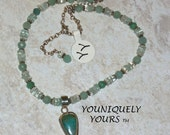 SALE and FREE Shipping-Peruvian Opal, Aquamarine and Amazonite-Amazing Necklace