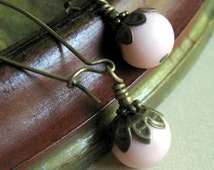 Dangle Earrings, Pink Dangle Earrings, Pink Earrings, Gift for Her Jewelry, Gift for Mom