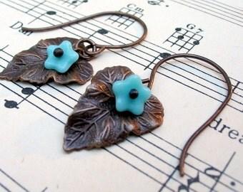 Leaf Earrings, Leaf Jewelry, Nature Jewelry, Woodland Jewelry