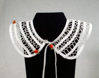 Red rose Needlelace Collar
