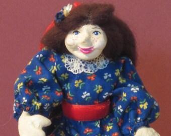 Miniature Victorian Girl dollhouse doll