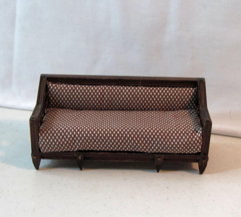 Miniature vintage wooden couch sofa divan by bluebonnetladies for Vintage divan sofa