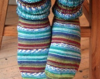 Learn to Knit Socks Pattern - PDF
