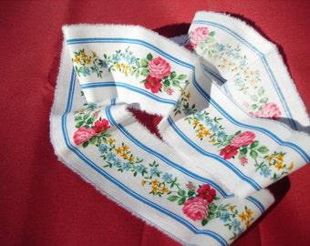 Fabric Trim Vera Bradley floral fabric border Small Elizabeth. 1 yard
