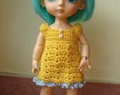 20. sunny yellow crocheted dress for lati / pukifee / jaimedoll