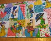 "Hollie Hobbie Hobby  Fabric Vintage Recycle Fabric 18""x42""  Manes Fabric  sewbuzyb"