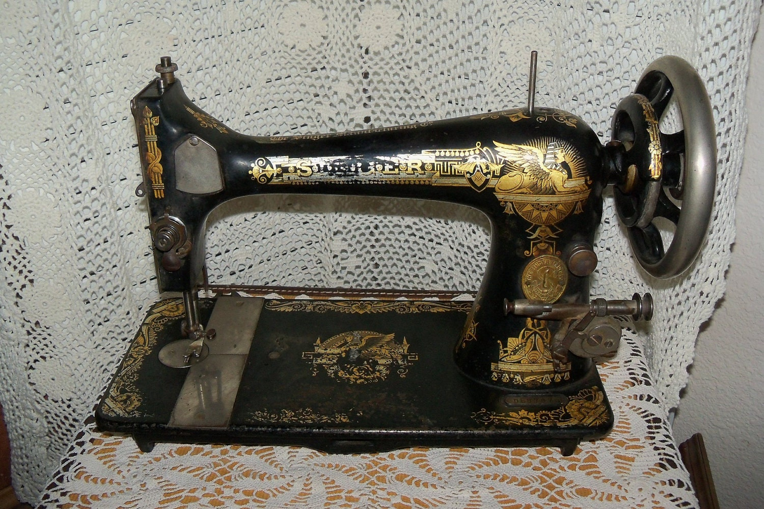 Items Similar To Singer Treadle Sewing Machine Antique