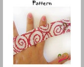 Swirled Peyote Pattern Bracelet - For Personal Use Only PDF Tutorial