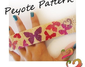 Fly Fly Butterfly Pattern Bracelet - For Personal Use Only PDF Tutorial