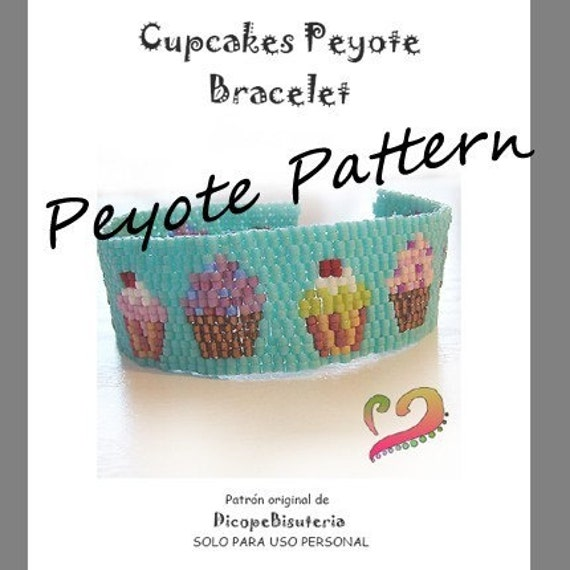 Cupcake Lovers Peyote Pattern Bracelet- For Personal Use Only PDF Tutorial