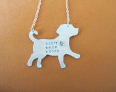Mutt Necklace-Don't Shop Adopt Puppy necklace-Dog Lover-Labrador Retriever-Rescue Dog-Vegan-Gift-Mixed Breed-Eco Friendly-Personalized