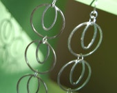 Silver Ring and Oval Dangle Earrings