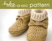 Baby Moc-a-Soc PDF PATTERN - (1-6 and 6-12 months)