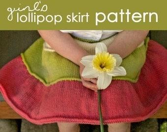 Lollipop Skirt PDF PATTERN - (2, 3, 4, 5, 6 years)