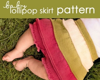 Baby Lollipop Skirt with Bloomers PDF PATTERN - (3-6 mo, 6-12 mo, 1 year)
