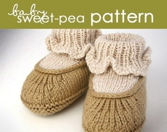 Baby Sweet-Pea PDF PATTERN - (1-6 and 6-12 months)