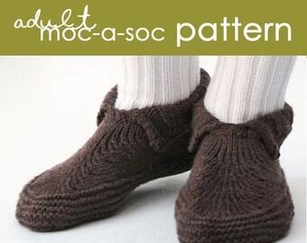 Adult Moc-a-Soc PDF Pattern - (xs, s, m, l, xl, xxl)
