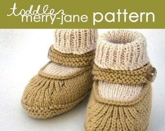 Toddler Merry-Jane PDF PATTERN - (1, 2, and 3 years)