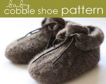Baby Cobble Shoe PDF PATTERN - (3-6 and 6-12 months)
