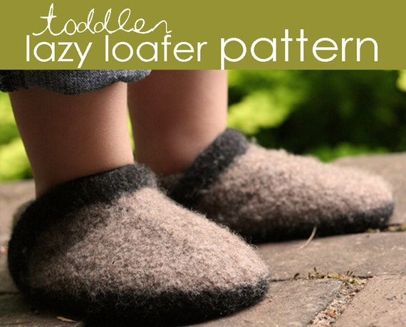Toddler Lazy Loafer PDF PATTERN - (1, 2, and 3 years)