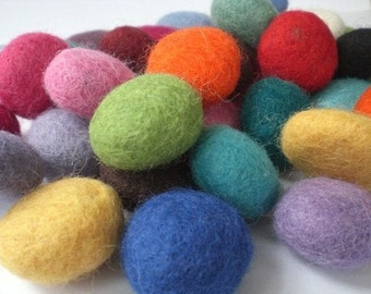 100 Percent Wool Felt Pebbles - Set of 20