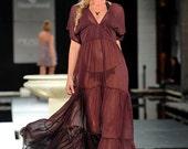 mulberry sheer maxi dress