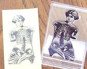 Anatomical Venus De Milo ATC ACEO Sized Polymer  Rubber Stamp 005