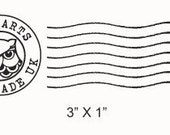 Hogwarts Postmark and Owl Post Faux Postage Stamp Rubber Stamps Set 215