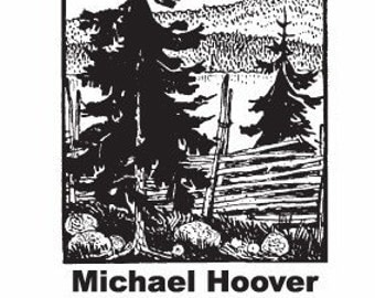 Outdoors Split Rail Fence in the Woods Personalized Ex Libris Rubber Stamp E13