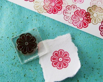 Small Flower Rubber Stamp 040