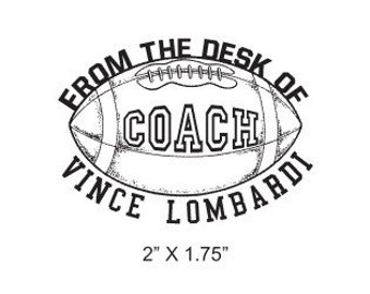 Football - From the Desk of Coach - Custom Rubber Stamp H04