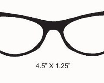Retro 60s Cats Eye Glasses Rubber Stamp Vintage Image 233