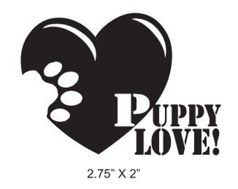Puppy Love Paw On Your Heart Rubber Stamp 319