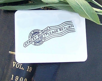 Postal Cancellation Vintage Personalized Ex Libris Rubber Stamp H06