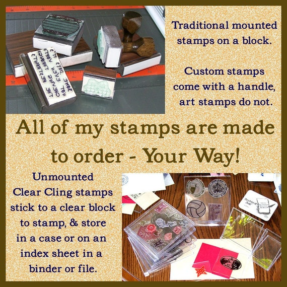 Custom Listing for dathansmom1 Vintge Ad Hand AD104 and black ink pad