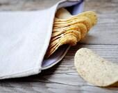 Reusable Snack Bag - Reusable Sandwich Bag - Plain - Set of 3 (1 Large, 2 Small)  - Eco Friendly