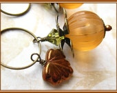 Rustic Pumpkins - Dangle Earrings - Fall Autumn -Louisiana